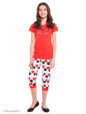 Пижама Avanti Piccolo. Цвет: красный, белый, темно-синий, голубой