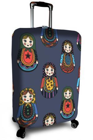 Чехол на чемодан SOVA COVER. Цвет: синий