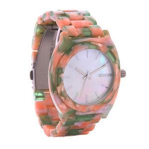 Часы  Time Teller Acetate Mint Julep Nixon. Цвет: розовый