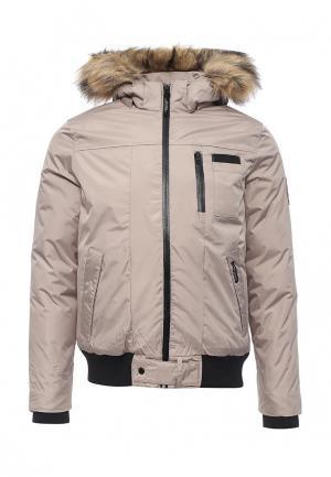 Куртка утепленная Kamora. Цвет: бежевый