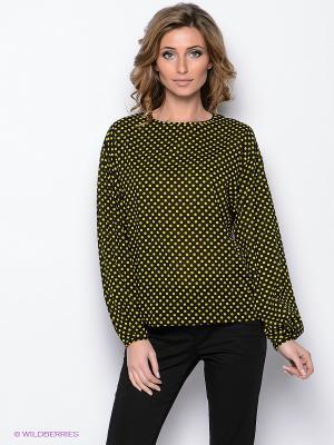 Блузка MARY MEA. Цвет: черный, желтый