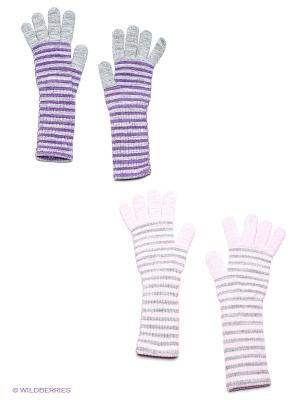 Перчатки, 2 пары FOMAS. Цвет: бледно-розовый, серый меланж