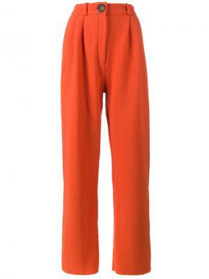 Широкие брюки с завышенной талией A.W.A.K.E.. Цвет: жёлтый и оранжевый