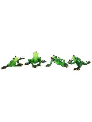 Фигурка декоративная Лягушки-гимнастки Elan Gallery. Цвет: зеленый