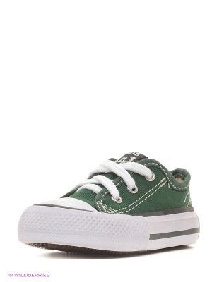 Кеды 4U. Цвет: темно-зеленый