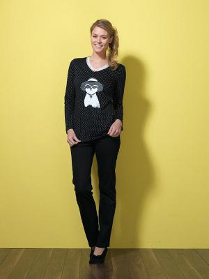 Пижама BlackSpade. Цвет: черный, белый