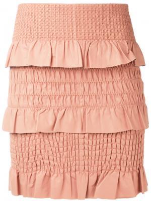 Фактурная юбка Drome. Цвет: розовый и фиолетовый
