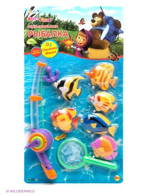Игра-рыбалка Маша и медведь Играем вместе. Цвет: желтый, фиолетовый