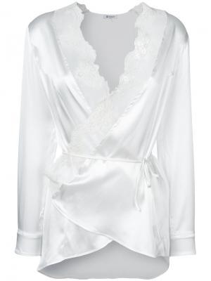 Блузка с кружевными вставками Dondup. Цвет: белый