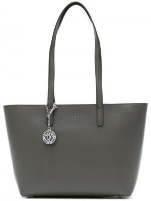 Средняя сумка-шоппер Donna Karan. Цвет: серый