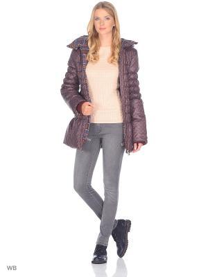 Куртка DIDILIYA. Цвет: терракотовый