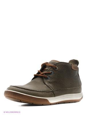 Ботинки ECCO. Цвет: зеленый, светло-коричневый