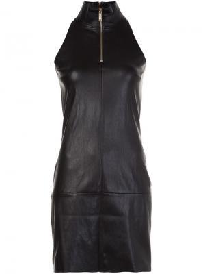 Платье с горловиной на молнии Jitrois. Цвет: чёрный