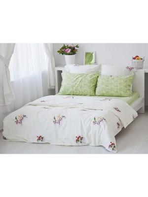 Комплект постельного белья Цвет Тет-а-Тет. Цвет: молочный