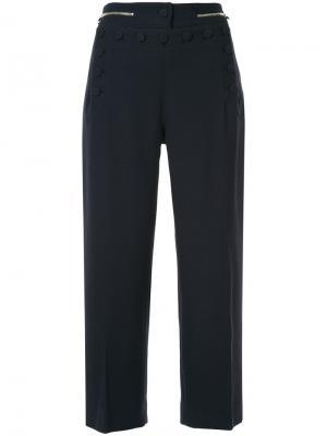 Укороченные брюки с пуговицами Markus Lupfer. Цвет: синий
