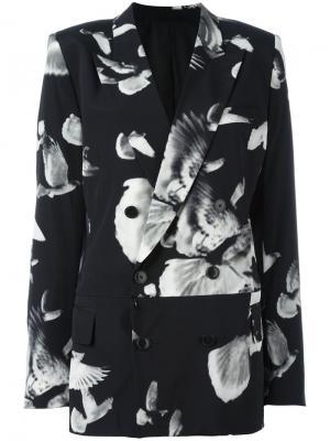 Блейзер с цветочным принтом A.F.Vandevorst. Цвет: чёрный