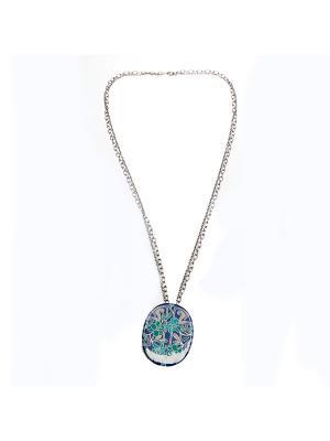 Колье Clara Bijoux. Цвет: синий, бирюзовый, зеленый