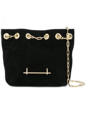Маленькая сумка на цепочке M2malletier. Цвет: чёрный