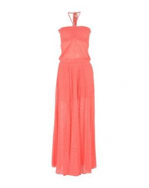Длинное платье PATRIZIA PEPE. Цвет: коралловый