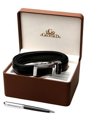 Набор: Ручка, ремень Gilford. Цвет: черный