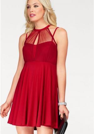 Коктейльное платье MELROSE. Цвет: красный, черный