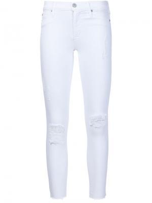 Укороченные джинсы кроя скинни Hudson. Цвет: белый