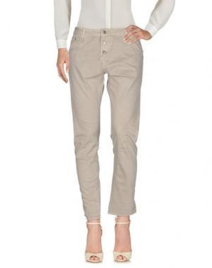 Повседневные брюки VICOLO. Цвет: светло-серый
