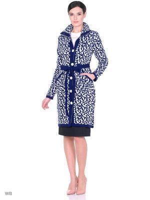 Пальто-кардинган Велора Dorothy's Нome. Цвет: синий, белый