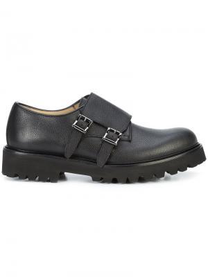 Туфли монки Sanremo Paul Andrew. Цвет: чёрный