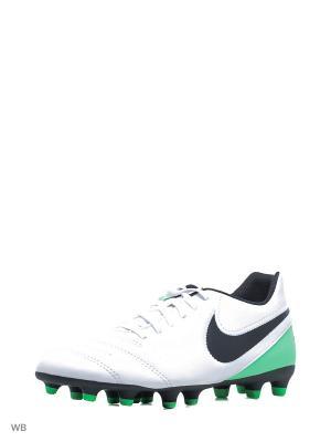 Бутсы TIEMPO RIO III FG Nike. Цвет: белый, зеленый, черный