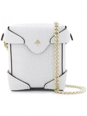 Pristine Mini crossbody bag Manu Atelier. Цвет: белый
