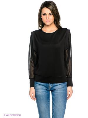 Блузка Pieces. Цвет: черный