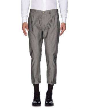 Повседневные брюки 26.7 TWENTYSIXSEVEN. Цвет: свинцово-серый
