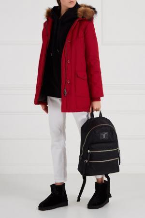 Текстильный рюкзак черный Marc Jacobs. Цвет: черный