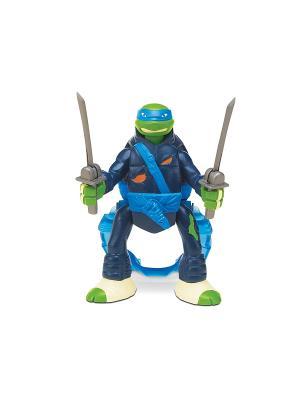 Фигурка Черепашки-ниндзя с секретным приемом, Леонардо Playmates toys. Цвет: синий, зеленый