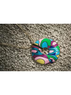 Набор украшений Египетская мозаика: кулон с цепочкой и серьги Nothing but Love. Цвет: розовый, голубой, зеленый