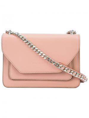 Сумка на плечо с откидными клапаном Elena Ghisellini. Цвет: розовый и фиолетовый