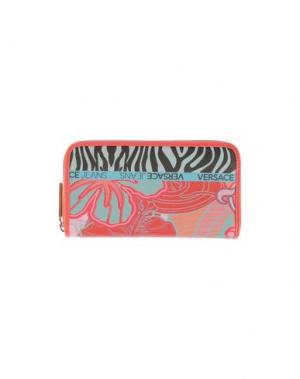 Бумажник VERSACE JEANS. Цвет: коралловый