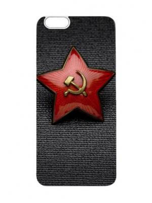 Чехол для iPhone 6 Красная звезда Chocopony. Цвет: белый, черный