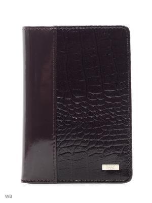 Обложка для паспорта Esse. Цвет: темно-фиолетовый