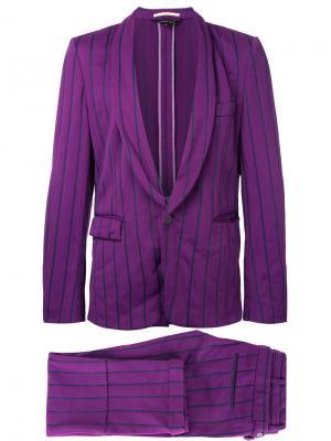 Костюм в тонкую полоску Comme Des Garçons Vintage. Цвет: розовый и фиолетовый