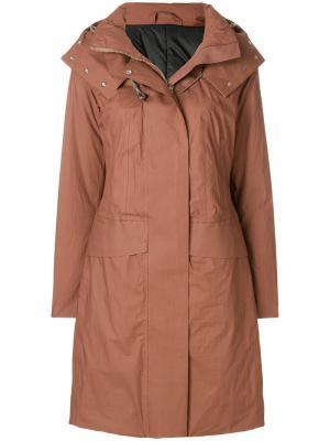 Длинное пальто-парка Peuterey. Цвет: коричневый