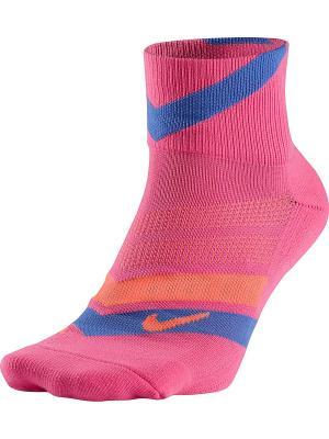 Носки RUNNING DRI FIT CUSHION D Nike. Цвет: розовый, фиолетовый