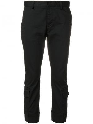 Укороченные брюки карго Dsquared2. Цвет: чёрный