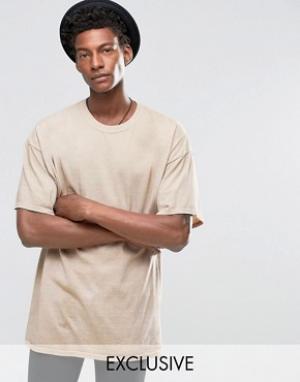 Reclaimed Vintage Окрашенная oversize‑футболка. Цвет: розовый
