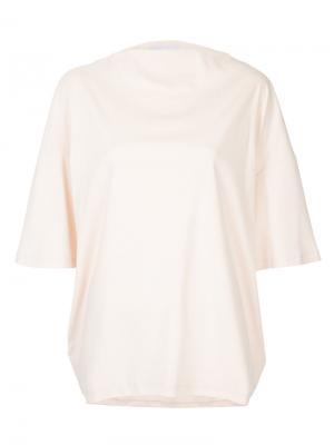 Свободная футболка 08Sircus. Цвет: розовый и фиолетовый