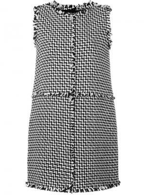 Твидовое платье Gianluca Capannolo. Цвет: чёрный