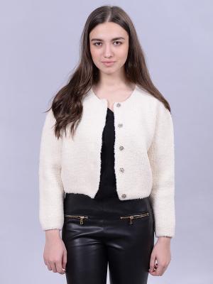 Куртка Farfalla. Цвет: светло-бежевый, белый