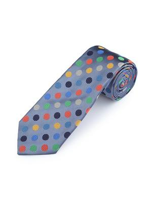 Галстук Regular Dots Sea Duchamp. Цвет: черный,светло-зеленый,серо-голубой,светло-бежевый,красный,оранжевый,желтый