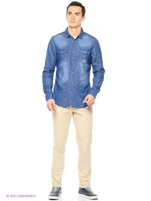 Рубашка Reserved. Цвет: голубой